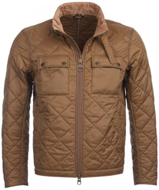 Men's Barbour International Setv Quilted Jacket - Dark Sand