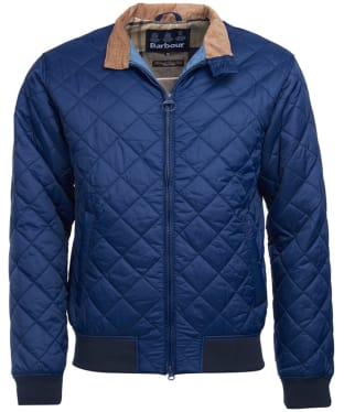 Men's Barbour Bates Quilted Jacket - Royal Navy