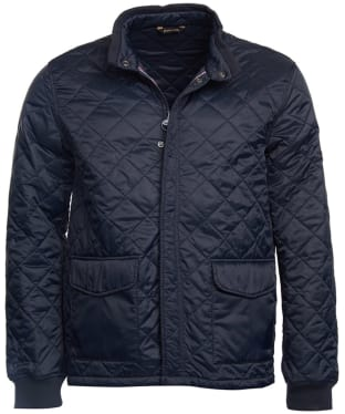 Men's Barbour Steve McQueen Cross Quilted Jacket - Navy