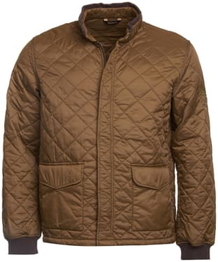 Men's Barbour Steve McQueen Cross Quilted Jacket - Dark Sand