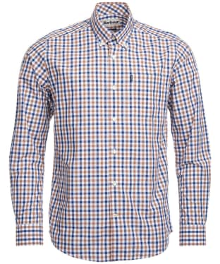 Men's Barbour Gingham 4 Tailored Shirt - Mocha Check