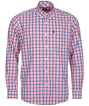Men's Barbour Gingham 4 Tailored Shirt - Pink Check