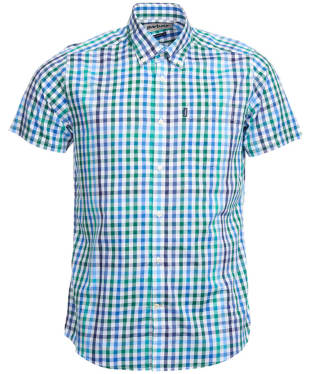 Men's Barbour Russell Short Sleeve Shirt - Racing Green Check