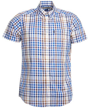 Men's Barbour Russell Short Sleeve Shirt - Sandstone Check