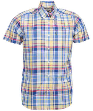 Men's Barbour Madras 3 S/S Tailored Shirt - Yellow Check