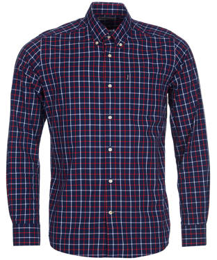 Men's Barbour Tattersall 4 Tailored Shirt - Navy