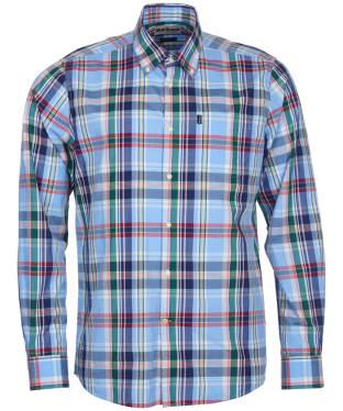 Men's Barbour Jeff Tailored Fit Shirt - Light Blue Check