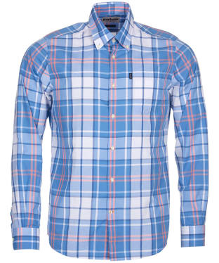 Men's Barbour Highland 4 Tailored Shirt - Blue Check
