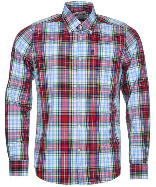 Men's Barbour Highland 4 Tailored Shirt - Red Check