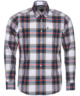 Men's Barbour Highland 5 Tailored Shirt - White Check