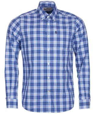 Men's Barbour Highland 3 Tailored Shirt - Mid Blue Check