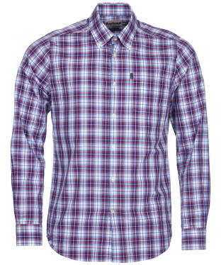 Men's Barbour Leo Tailored Fit Shirt - Red Check