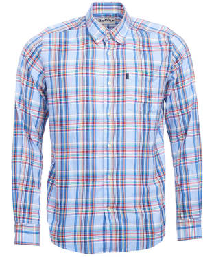 Men's Barbour Oxford Check 3 Tailored Shirt - Blue Check