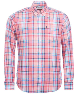 Men's Barbour Oxford Check 3 Tailored Shirt - Pink Check