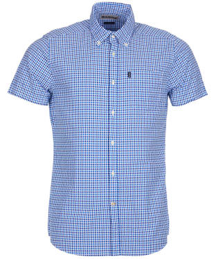 Men's Barbour Seersucker 1 S/S Tailored Shirt - Blue