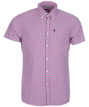 Men's Barbour Newton Short Sleeved Tailored Fit Shirt - Navy