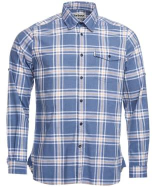 Men's Barbour Elver Shirt - Navy Check