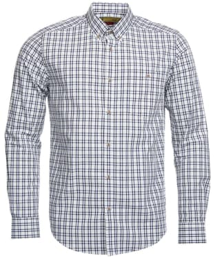 Men's Barbour International Crew Shirt - Navy Check