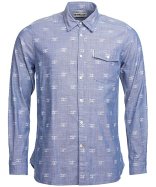 Men's Barbour Beacon Print Shirt - Chambray