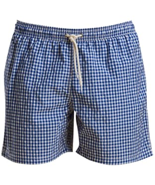 Men's Barbour Gingham Swim Shorts - Blue