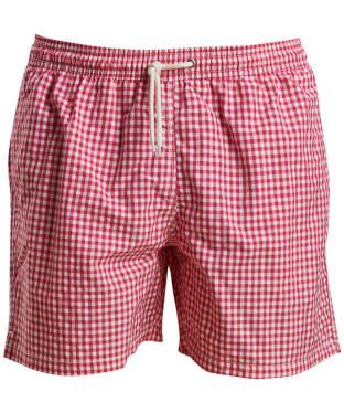 Men's Barbour Gingham Swim Shorts - Pink