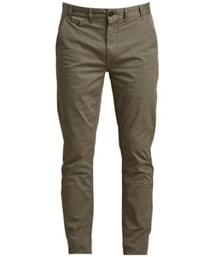 Men's Barbour Neuston Stretch Chinos - Military Green