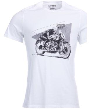 Men's Barbour International Norton Racer Tee - White