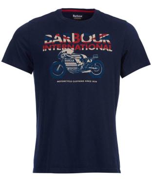 Men's Barbour International Union Racer Tee - Navy