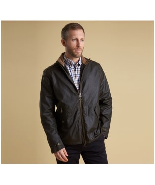 Men's Barbour Claxton Wax Jacket - Olive