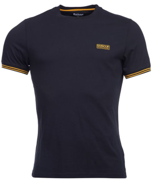 Men's Barbour International Cable Tipped Tee - Black