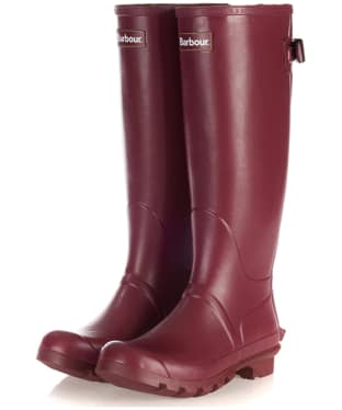 Women's Barbour Jarrow Back Adjustable Wellingtons - Burgundy