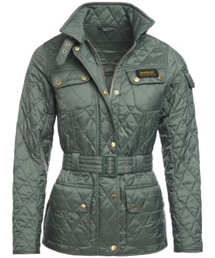 Women's Barbour Lightweight International Quilted Jacket - Light Khaki