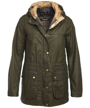 Women's Barbour Lightweight Durham Wax Jacket - Archive Olive
