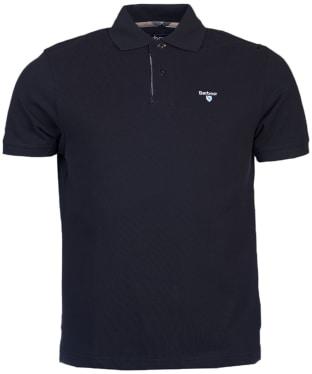 Men's Barbour Tartan Pique Polo Shirt - New Navy