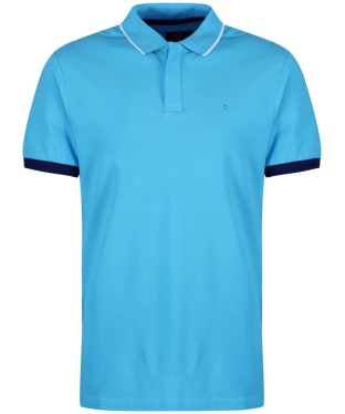 Men's Hackett Contrast Cuff Polo Shirt - Turquoise