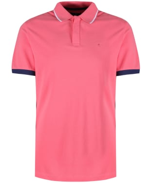 Men's Hackett Contrast Cuff Polo Shirt - Coral