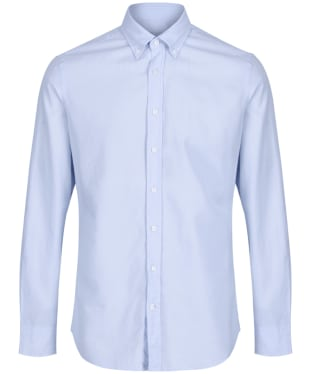 Men's Hackett Garment Dye Delave Logo Shirt - Baby Blue