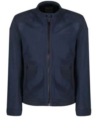 Men's Hackett Aston Martin Racing Soft-shell Moto Jacket - Navy