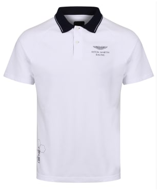 Men's Hackett Aston Martin Racing Raglan Sleeve Polo Shirt - White