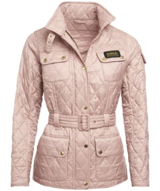 Women's Barbour International Lightweight Quilted Jacket - Pale Pink