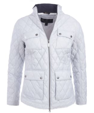 Women's Barbour Dolostone Quilted Jacket - Ice White