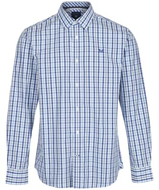 Men's Crew Clothing Classic Gingham Shirt - Sky / Blue / Ultramarine