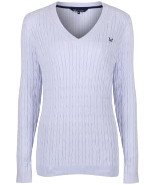Women's Crew Clothing Heritage Cable Knit Sweater - Clean Air