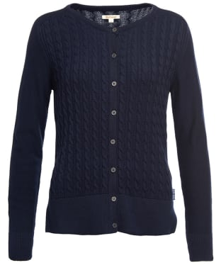 Women's Barbour Hett Knitted Cardigan - Navy