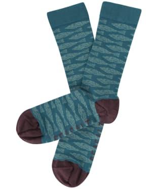 Men's Seasalt Sailor Socks - Fish Lines Lake