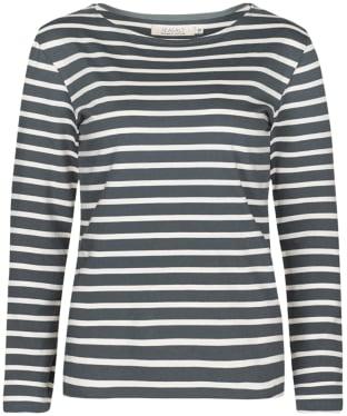 Women's Seasalt Sailor Shirt - Breton Lead Ecru