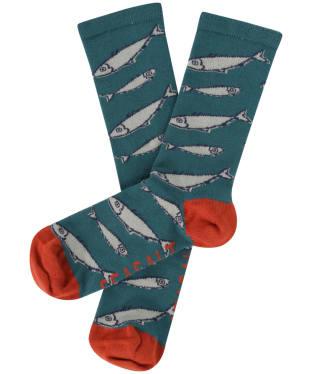 Women's Seasalt Sailor Socks - Big Fish Dark Wreckage