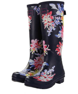 Women's Joules Welly Print Wellingtons - Navy Whitstable Floral