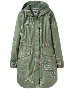 Women's Joules Coastline Print Waterproof Jacket - Laurel Blossom