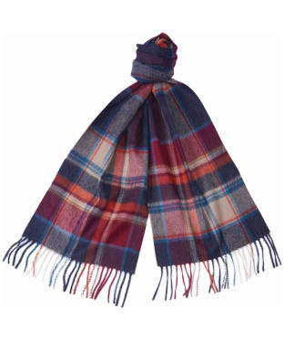 Barbour Check Cashmere Scarf